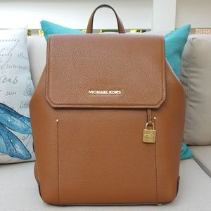 NWT Michael Kors MD Hayes backpack brown bookbag
